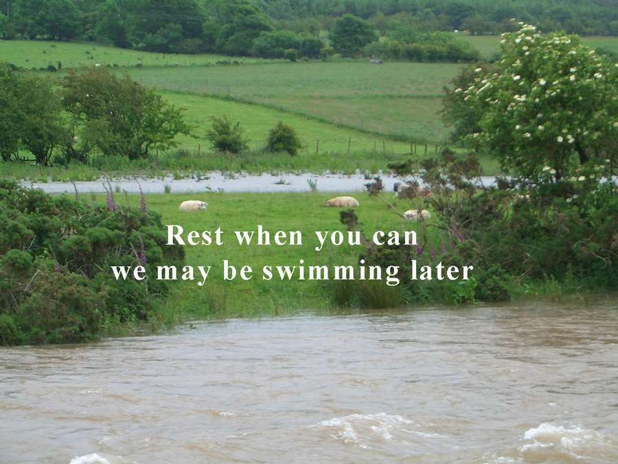 rest when you can